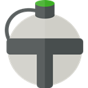 Bottle, water, thirst, Tools And Utensils, flask, canteen LightGray icon