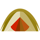 Tent, rural, Camping, Forest, woods, nature Black icon
