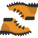 footwear, Boot, Boots, Climbing, fashion, Clothes Goldenrod icon