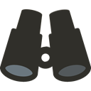 spy, see, Binoculars, Eye, sight, Tools And Utensils, Goggles DarkSlateGray icon