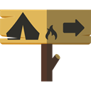 signs, rural, Camp, Direction, Camping, sign Black icon