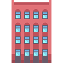 residential, real estate, buildings, Apartments, property LightCoral icon