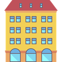 vacations, Hostel, Holidays, buildings, hotel SandyBrown icon