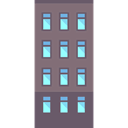 residential, Apartments, real estate, buildings, property Gray icon