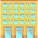 urban, Building, city, Office Block, town, Architectonic, buildings SandyBrown icon