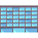 buildings, town, urban, Building, city, Architectonic, Office Block SkyBlue icon