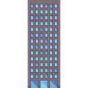 Building, urban, city, Architectonic, buildings, skyscraper, town Black icon