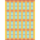 town, urban, Building, buildings, city, Architectonic, skyscraper SandyBrown icon