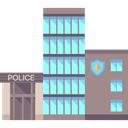 Police Station, Prison, jail, buildings RosyBrown icon