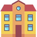 Home, internet, buildings, Page, house SandyBrown icon
