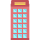 Communication, Phone Booth, phone call, technology, Telephone Box LightCoral icon