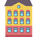 Block, buildings, residential, flat, Building, Apartments SandyBrown icon