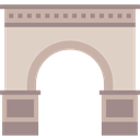 Monuments, Monument, Arch, landmark, Triumph LightGray icon