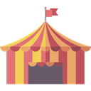 entertainment, Tent, Circus, Entertaining, leisure Black icon