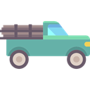 vehicle, Pickup, transport, pickup truck, transportation Black icon