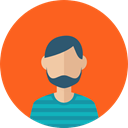 Facial Hair, profile, Beard, people, user, Man, Business, Avatar Tomato icon