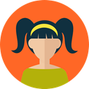 Business, Girl, user, woman, profile, Avatar, people Tomato icon