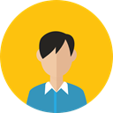 people, Avatar, Boy, Business, user, Man, profile Gold icon
