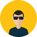 Man, user, people, Business, profile, Avatar Gold icon