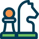 Chess Piece, horse, sports, chess, Chess Game MidnightBlue icon
