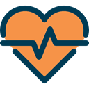 Heart, Heart Shape, Health Clinic, medical, heartbeat, healthy Coral icon