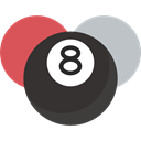 entertainment, stick, sports, Eight, Billiard, Ball, objects, pool, Eight Ball DarkSlateGray icon