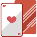 poker, Hearts, Playing Cards, Casino, Cards IndianRed icon