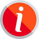customer service, help, signs, Info, Information OrangeRed icon