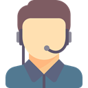 Avatar, Headphones, Microphone, support, people, customer service, technology, Call, Telemarketer DimGray icon