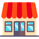 Business, store, Restaurant, Coffee Shop, Shop, buildings OrangeRed icon