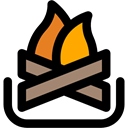 nature, Camping, campfire, Burn, Flame, Bonfire, hot Black icon