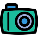 digital, photo camera, technology, photograph, picture Black icon