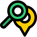search, map pointer, pin, location, placeholder, signs, Gps, Map Location, Map Point Black icon