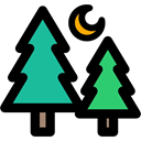 woods, Forest, landscape, nature, pines, trees Black icon