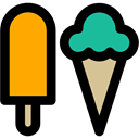 food, Dessert, sweet, Summertime, summer, Ice cream Black icon