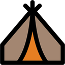 Camping, nature, Tent, rural, woods, Forest Gray icon