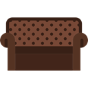 furniture, Household, Elegant, couch Black icon