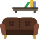 relax, furniture, sofa, Seat, couch, livingroom DarkOliveGreen icon