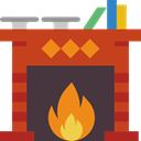 fireplace, winter, warm, living room, Chimney Icon