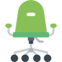 Comfort, Seat, Comfortable, Tools And Utensils, office chair, Chair YellowGreen icon