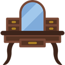 furniture, Dresser, table, Dressing, Mirror Black icon