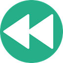 rewind, Multimedia Option, Direction, Orientation, Arrows, interface MediumSeaGreen icon