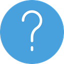 Info, Information, round, button, question, question mark, help, interface CornflowerBlue icon