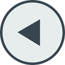 restart, Multimedia Option, Back, previous, interface, Arrows, left arrow Lavender icon