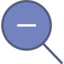 magnifying glass, detective, Tools And Utensils, search, zoom, Zoom out, Loupe LightSlateGray icon