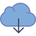 interface, storage, Data, download, Multimedia Option, Cloud computing, Multimedia CornflowerBlue icon