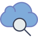 Multimedia, Data, Cloud computing, storage, search, Multimedia Option, interface CornflowerBlue icon