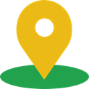 pin, map pointer, Maps And Flags, Map Point, signs, placeholder, Map Location Goldenrod icon