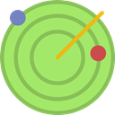 place, Positional, Area, technology, radar LightGreen icon