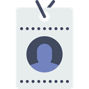 pass, Identity, id card, Business, identification Lavender icon
